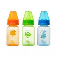 Бутылочка детская ПОМА маленькая цветная 140мл (арт. 3010)