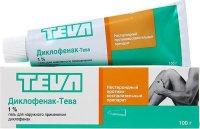 Диклофенак-Тева туба(гель д/наружн. прим.) 1% 40г №1 (1+1)