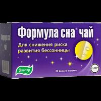 Чай лечебный ФОРМУЛА СНА пак.-фильтр №20