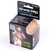Лента клейкая КИНЕЗИО-ТЕЙП Kinexib Pro с усил. фиксацией 5м х 5см (беж.)