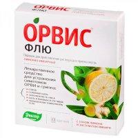 ОРВИС Флю пак.(пор.д/приг. р-ра д/приема внутрь) №10 лимонно-имбирный