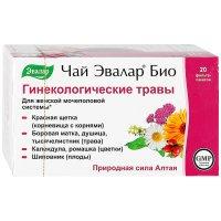 Чай лечебный ЭВАЛАР БИО Гинекологические травы пак.-фильтр 1,5г №20