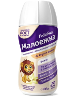 ПедиаШур Малоежка спец. продукт с пищевыми волокнами Ваниль 200мл