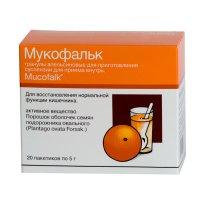 Мукофальк саше(гран. д/сусп. орал.) 5г №20 (апельсин)