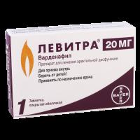 Левитра таб. п/пл. об. 20мг №1