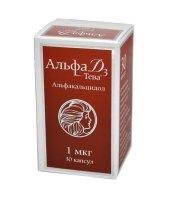 Альфа Д3-Тева капс. 1мкг №30 фл. п/п. пач.карт.