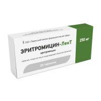 Эритромицин-ЛекТ таб. п/об. р-р/кишечн. 250мг №20