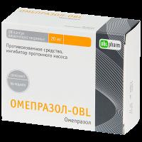 Омепразол-OBL капс. кишечнораств. 20мг №28 (7х4)
