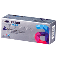 Панкреатин таб. п/об. р-р/кишечн. 25ЕД №60 уп.конт.яч.