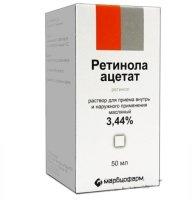 Ретинола ацетат-ЛекТ фл.-кап.(р-р д/приема внутрь и наружн. прим. масляный) 3,44% 50мл