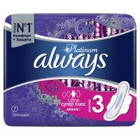 Прокладки гигиенические ALWAYS Platinum Collection Ultra Super Plus №7