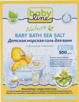 Соль для ванн детская BabyLine Череда морская 500г