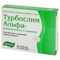 Турбослим Альфа-липоевая кислота и L-карнитин таб. 550мг №60