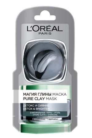 LOREAL DERMO-EXPERTISE Магия глины маска Деток и сияние 6мл (монодоз)