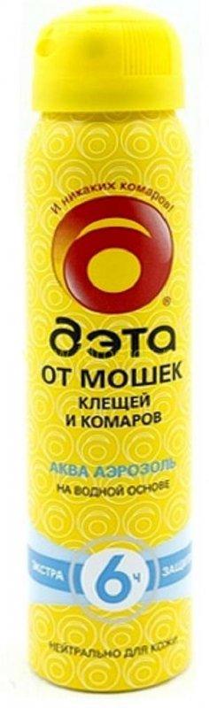 ДЭТА-аэрозоль аэр. Aqua от мошек, клещей, комаров 100мл